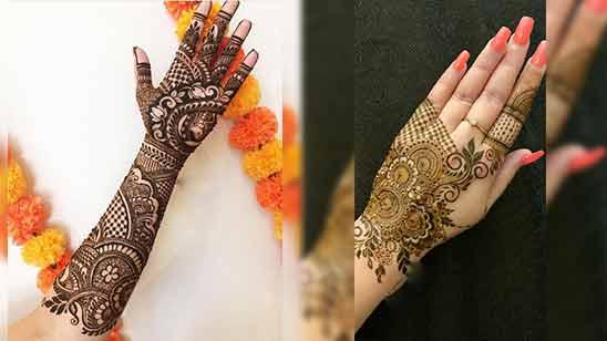 Easy Arabic Mehndi Design for Left Hand