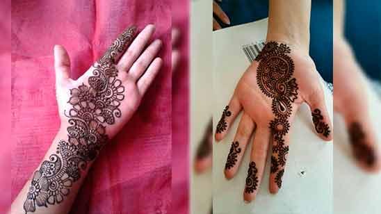 Easy Full Hand Mehndi Designs