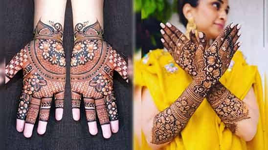 Front Hand Arabic Mehndi Design