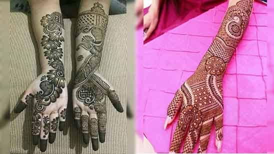 Full Hand Arabic Mehandi Design Image