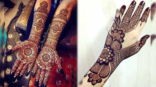 Full Hand Arabic Mehendi Design Image