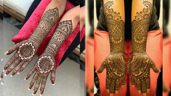 Full Hand Arabic Mehndi Design