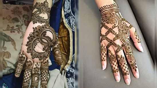 Full Hand Simple Mehendi Design Image