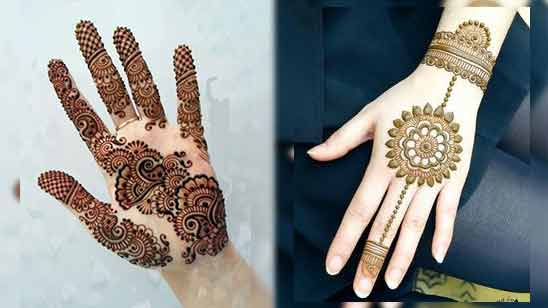 Full Hand Simple Mehndi Design Image