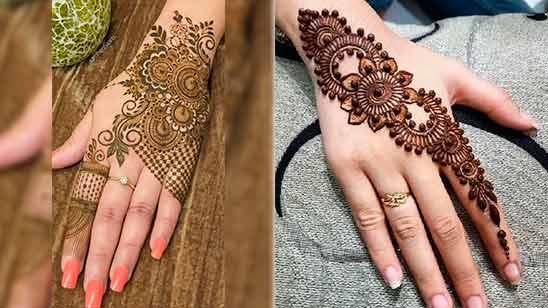 Hand Mehndi Design Simple