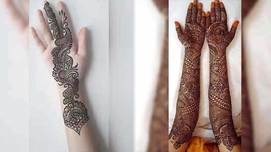 Image of Full Hand Arabic Mehendi Design