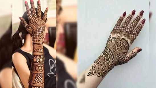 Image of Full Hand Arabic Mehndi Design