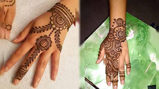 Indo Arabic Mehendi Design