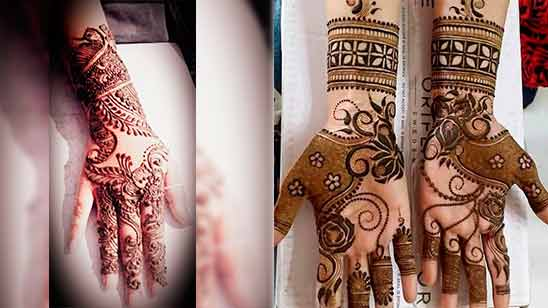 Indo Arabic Mehendi Design Image