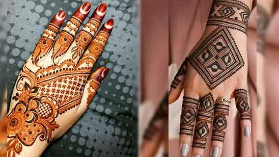 Indo Arabic Mehendi Design for Back Hand