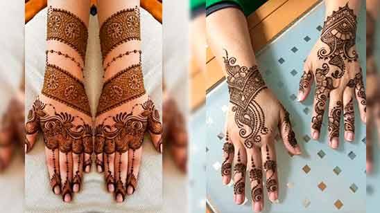 Indo Arabic Mehendi Design for Full Hand