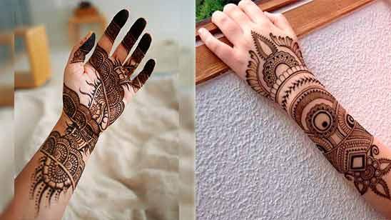 Indo Arabic Mehendi Design for Hand