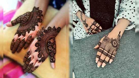 Indo Arabic Mehndi Design Image