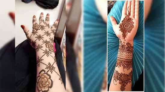 Indo Arabic Mehndi Design for Back Hand