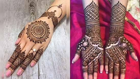Indo Arabic Mehndi Design for Full Hand