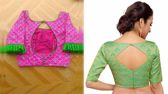 Latest Blouse Boat Neck Design 2020 Image