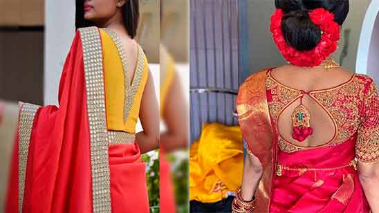 Latest Blouse Designs with Border