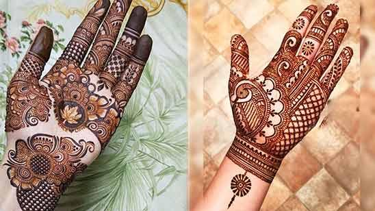 Left Hand Arabic Mehendi Design Image