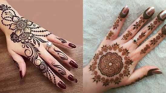 Left Hand Arabic Mehndi Design Image