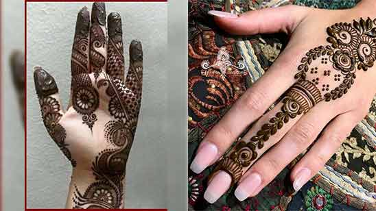 Left Hand Arabic Mehndi Design