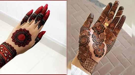 Left Hand Arabic Mehndi