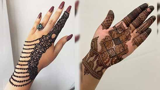 Left Hand Easy Arabic Mehndi Design