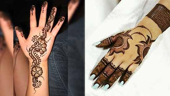 Left Hand Mehndi Design of Arabic