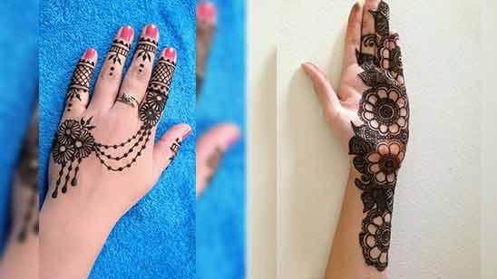 Left Hand Simple Arabic Mehndi Design