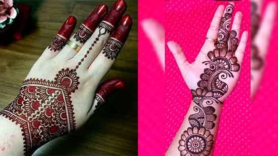 Mehandi Design Arabic Simple