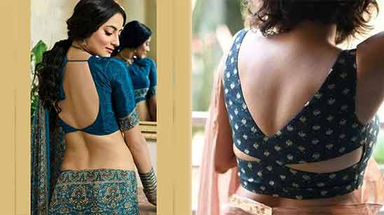 Saree Blouse Boat Neck Design Image