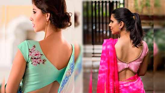 Silk Saree Border Blouse Design