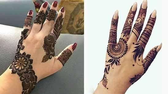 Simple Arabic Mehendi Design for Left Hand