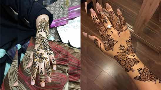 Simple Arabic Mehndi Design for Hand