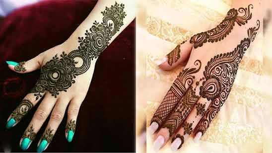 Simple Arabic Mehndi Design for Left Hand