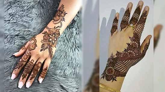 Simple Back Hand Mehandi Design