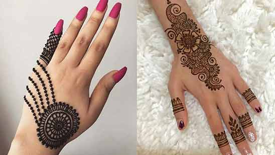 Simple Back Hand Mehendi Design