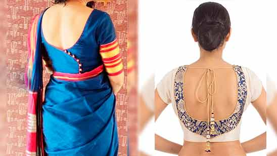 Simple Border Blouse Back Design