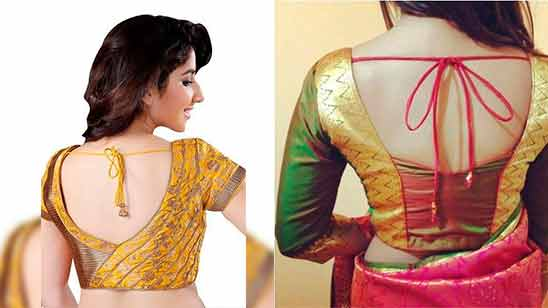 Simple Border Saree Blouse Design