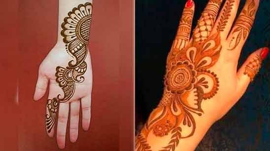 Simple Mehandi Designs Arabic