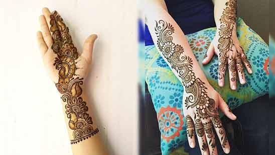 Stylish Arabic Mehendi Design Image