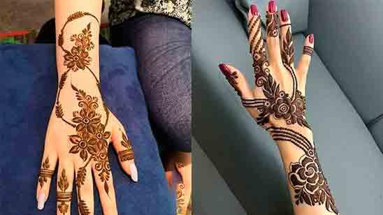 New Arabic Mehndi Design Simple
