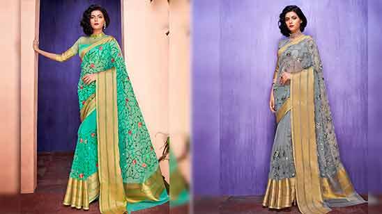 Big Border Pattu Saree Blouse Designs