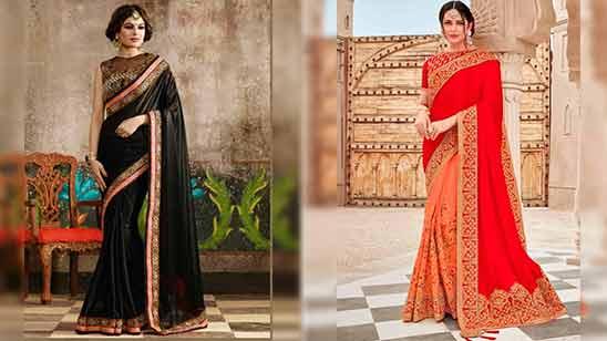 Big Border Saree Blouse Designs