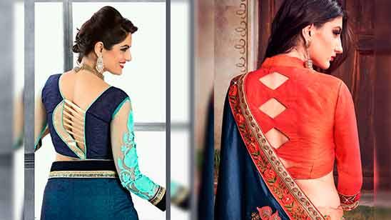 Border Saree Blouse Back Neck Design