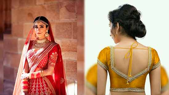 Border Saree Blouse Designs Back Side