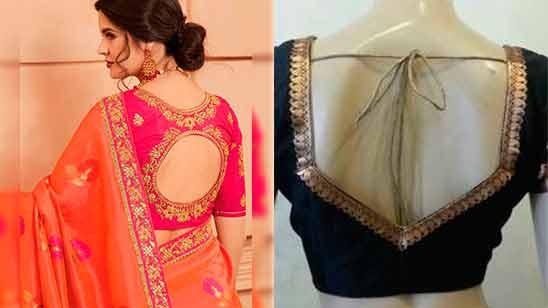 Border Saree Blouse Designs