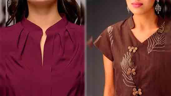 Chinese Neck Design Kurti