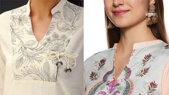 Half Collar Kurti Neck Design