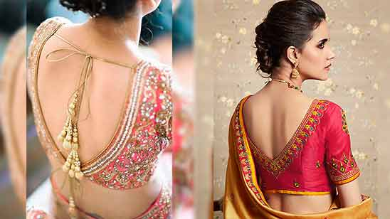 Heavy Border Saree Blouse Designs
