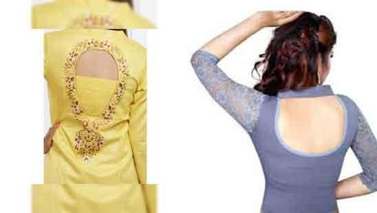 High Neck Kurti Full Collar Lace Piping Neck Design